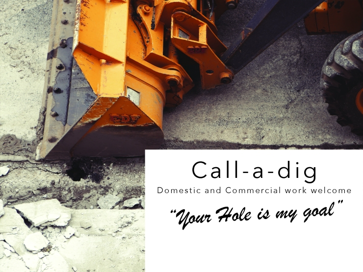 Call a dig. Groundworks, Groby, Leicester